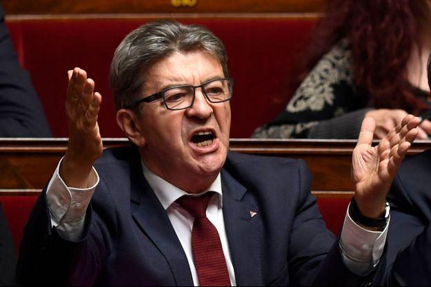 Jean-Luc Mélenchon à l'Assemblée nationale le 17 octobre 2018.