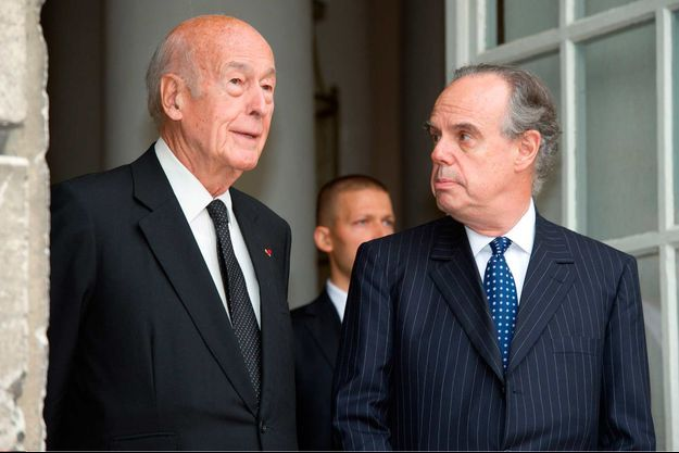 Valérie Giscard d'Estaing et Frédéric Mitterrand.