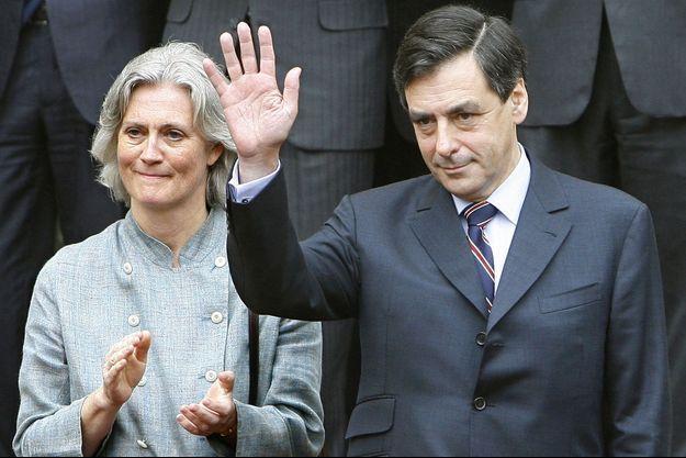 François et Penelope Fillon en 2007, lors de la passation de pouvoir à Matignon.