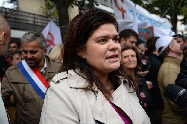 Raquel Garrido ici à un rassemblement contre la réforme du Code du Travail, mi-septembre.