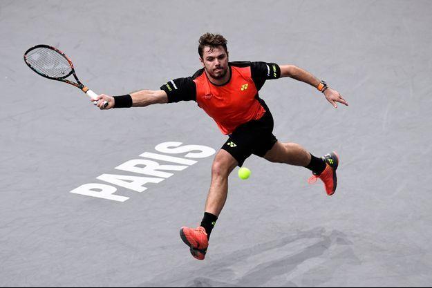 Stan Wawrinka lors du tournoi Master 1000 de Paris-Bercy.