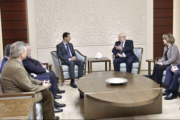 Bachar el-Assad avec Jean-Pierre Vial, sénateur UMP de Savoie.