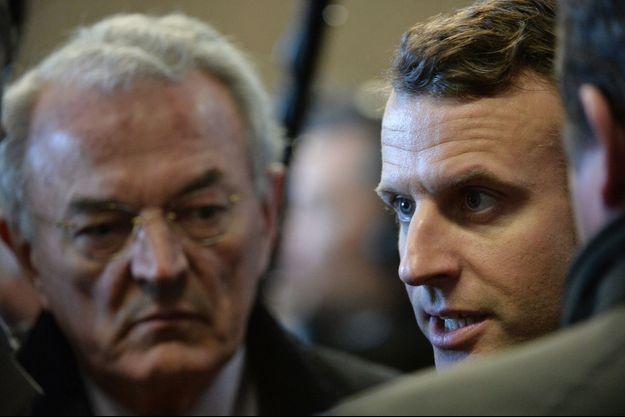 Jean Arthuis aux côtés d'Emmanuel Macron le 20 février 2017.