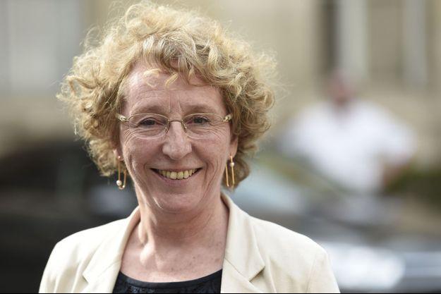 Muriel Pénicaud mercredi, lors de la passation de pouvoir au ministère du Travail.