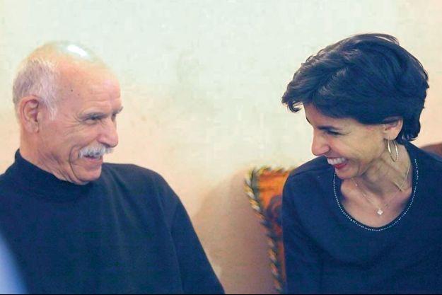 Avec son père, M'Barek, disparu en 2017.