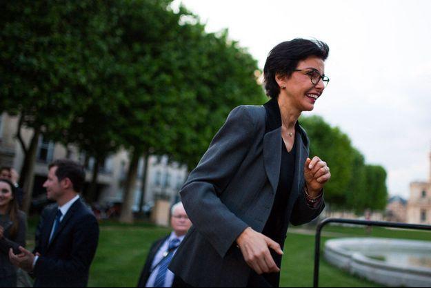 Rachida Dati en campagne avec François-Xavier Bellamy aux Invalides, le 24 mai à Paris.