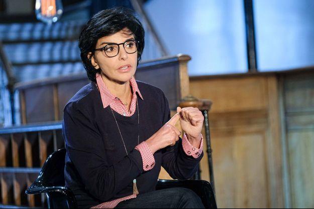 Rachida Dati, en avril 2021 sur le plateau d'une émission de télévision.