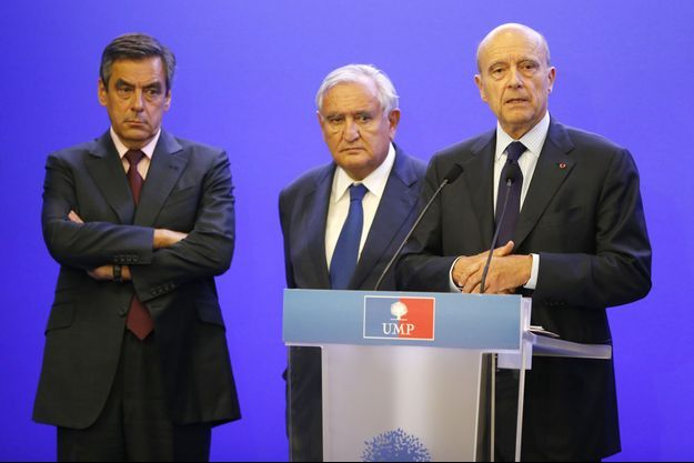 François Fillon, Jean-Pierre Raffarin et Alain Juppé.