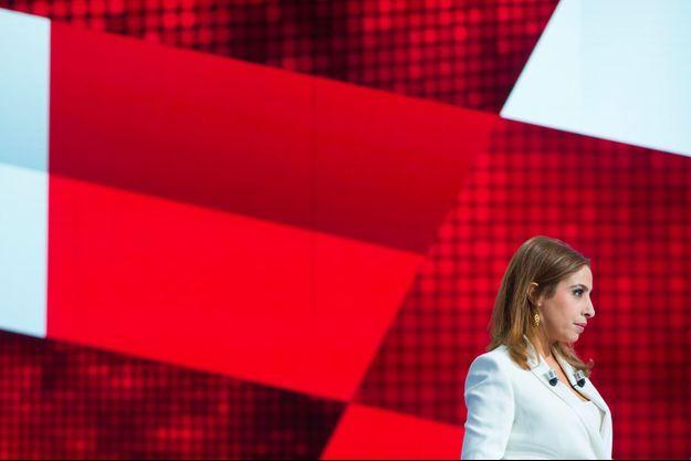 """Léa Salamé sur le plateau de """"L'Emission politique"""" le 14 mars."""