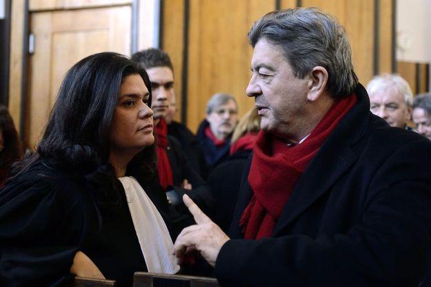 L'avocate Raquel Garrido et Jean-Luc Mélenchon en décembre 2013.