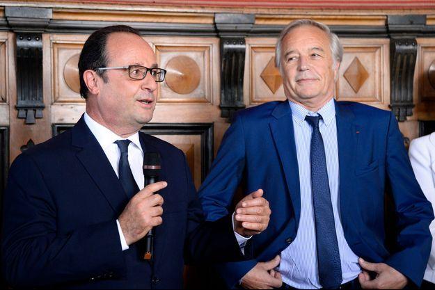 François Hollande et François Rebsamen le 23 juillet 2015.