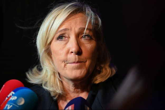 Marine Le Pen à Henin-Beaumont mercredi.