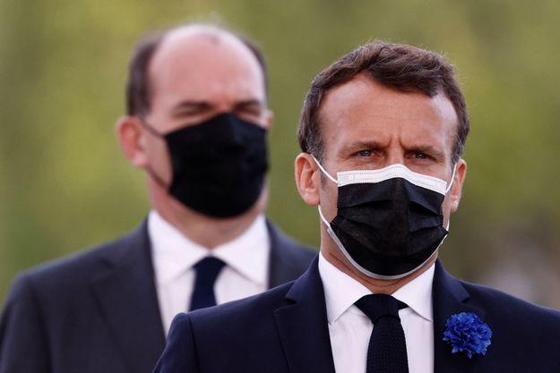 Jean Castex et Emmanuel Macron le 8 mai 2021.