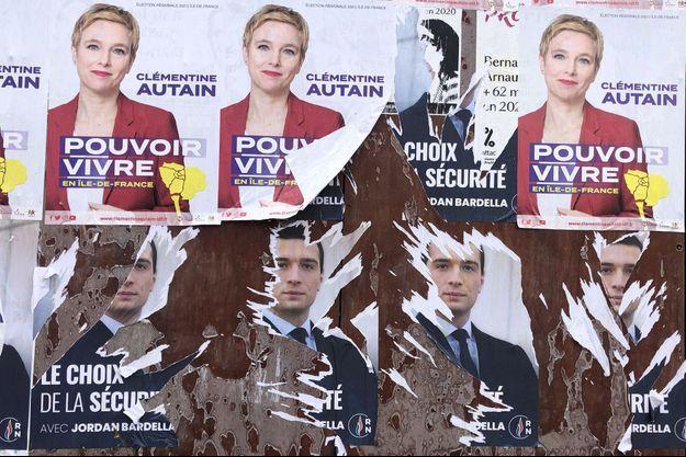 Un panneau d affichage dans les Hauts de Seine.