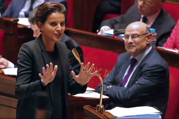Najat Vallaud-Belkacem à l'Assemblée nationale le 16 septembre.