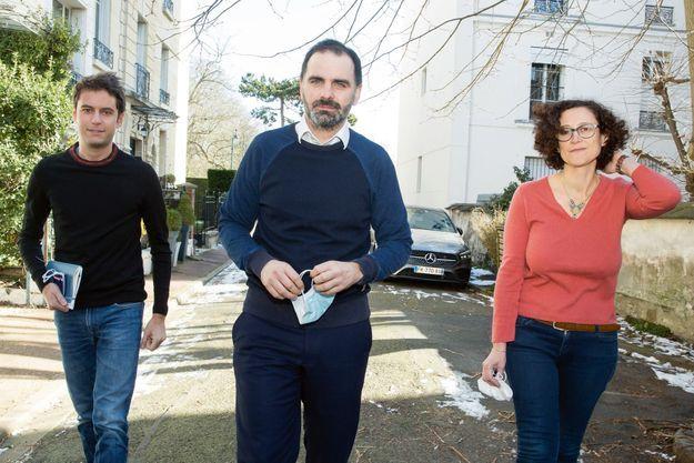 A Saint-Mandé, le 13 février, entre Gabriel Attal, porte-parole du gouvernement, et Emmanuelle Wargon, ministre du Logement.