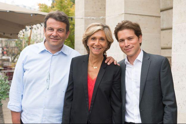 Thierry Solère, Valérie Pécresse et Geoffroy Didier à Paris, en août dernier.