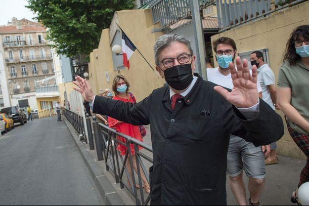 Jean-Luc Mélenchon à Marseille dimanche.