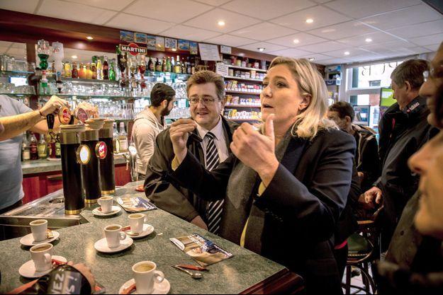 Marine Le Pen en campagne à Senlis, dans l'Oise, vendredi dernier.