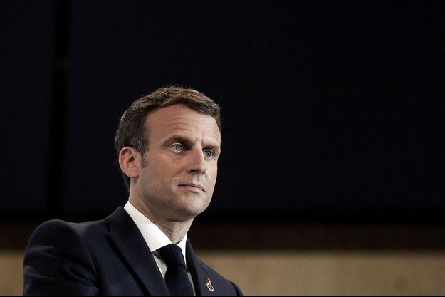 Emmanuel Macron à Paris mardi.