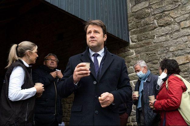 Loïg Chesnais-Girard à Trébry, dans les Côtes-d'Armor, le 14 mai dernier.