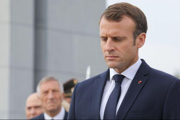 Emmanuel Macron lors de son déplacement en Arménie.
