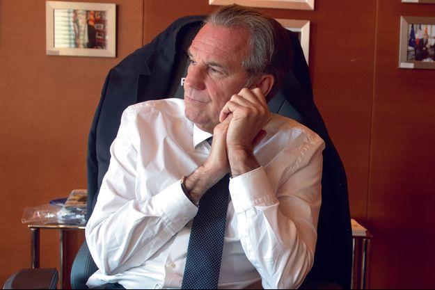 Renaud Muselier dans son bureau à Marseille.