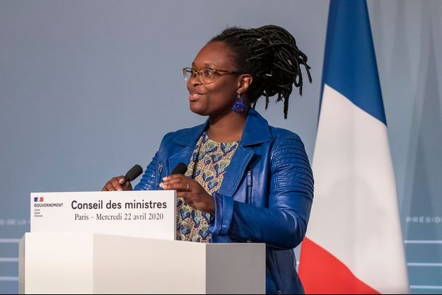 Sibeth Ndiaye mercredi lors du compte-rendu du Conseil des ministres.