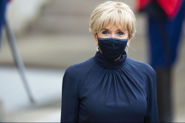Brigitte Macron à l'Elysée lundi.