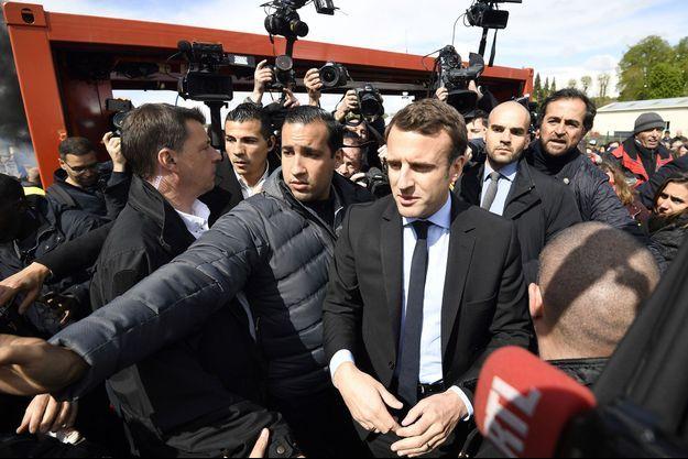 Emmanuel Macron à l'usine Whirlpool d'Amiens le 26 avril dernier.