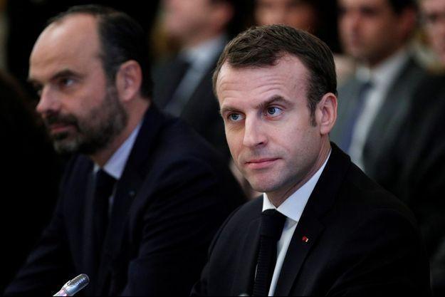Emmanuel Macron et Edouard Philippe, ici à l'Elysée en décembre 2018.