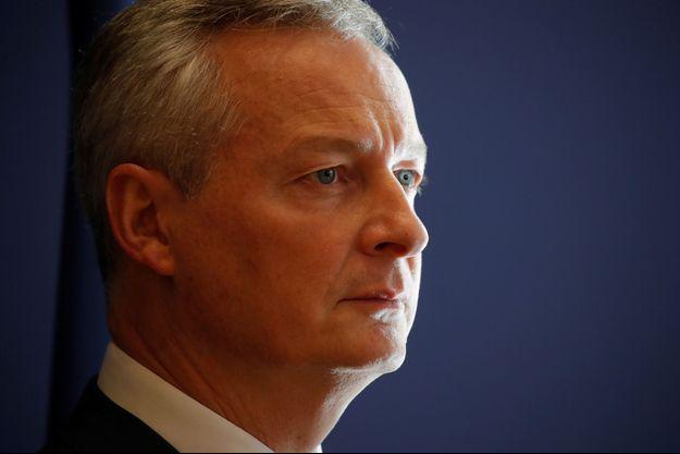 Le ministre de l'Economie Bruno Le Maire, fin octobre à Paris.