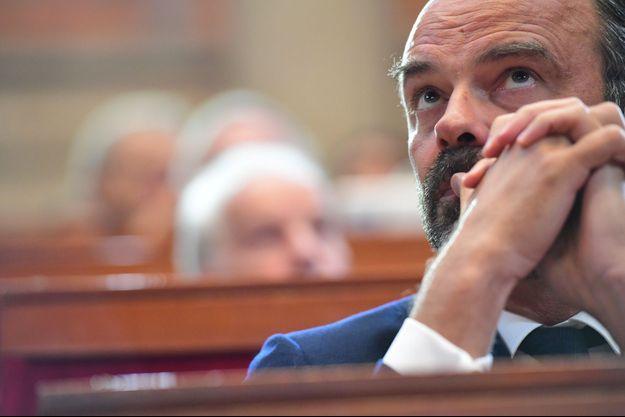 Le Premier ministre, Edouard Philippe jeudi au Conseil économique social et environnemental
