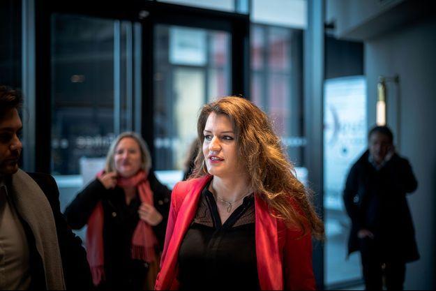 Marlène Schiappa lors des vœux du candidat à la mairie de Paris, Benjamin Griveaux, jeudi.