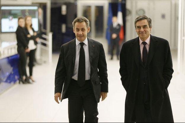 Nicolas Sarkozy et François Fillon en décembre 2014.