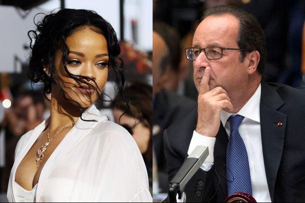 Rihanna a interpellé François Hollande sur Twitter.