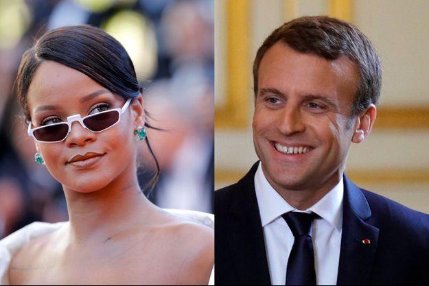 Rihanna appelle Emmanuel Macron à s'engager pour l'éducation