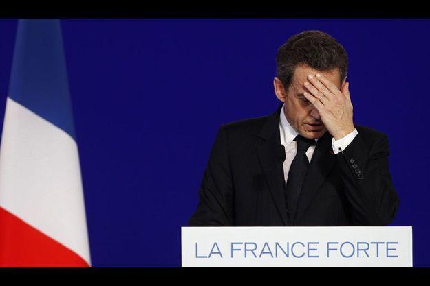 Nicolas Sarkozy, le 25 avril dernier à Cernay (Haut-Rhin).