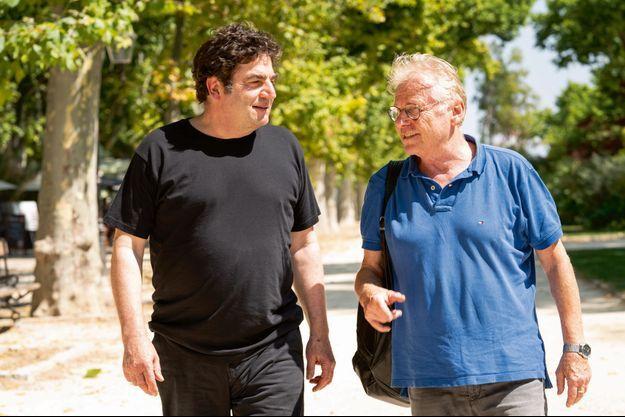 Romain Goupil et Daniel Cohn-Bendit ensemble à Montpellier.