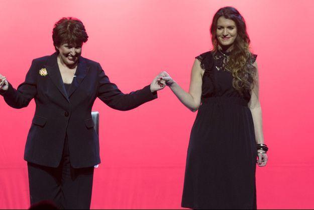 Roselyne Bachelot et Marlène Schiappa ici en mars 2018 au théâtre Bobino.