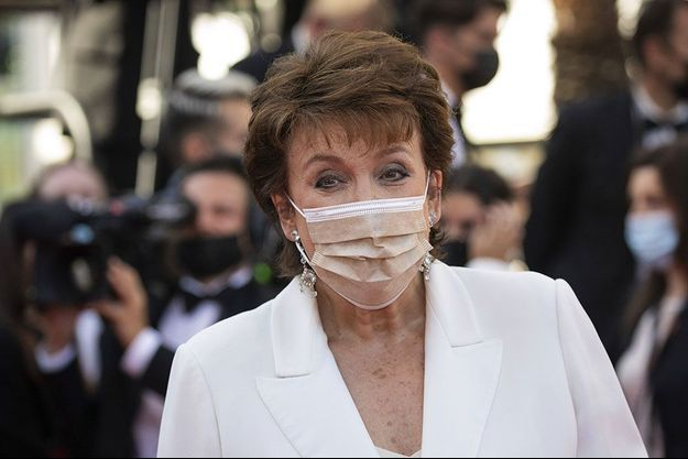 """Roselyne Bachelot à la première de """"Benedetta"""", à Cannes, le 9 juillet."""