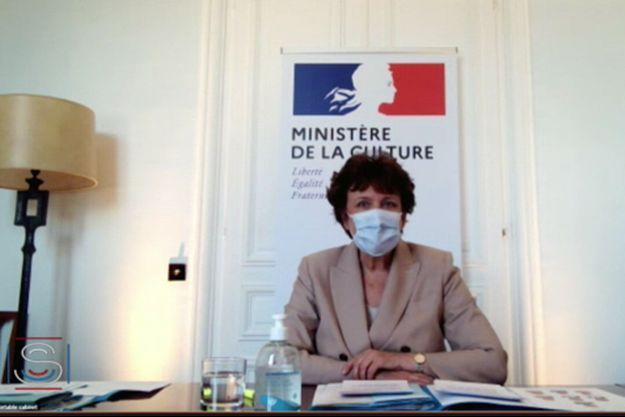 Roselyne Bachelot, auditionnée mardi devant la commission sénatoriale de la Culture, de l'éducation et de la communication.