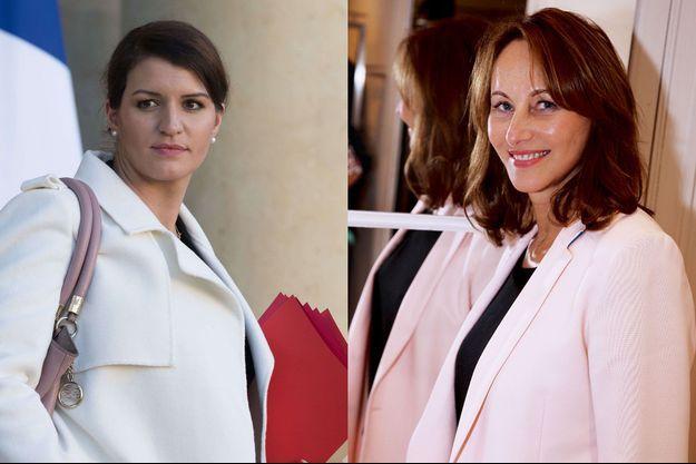 Marlène Schiappa et Ségolène Royal.