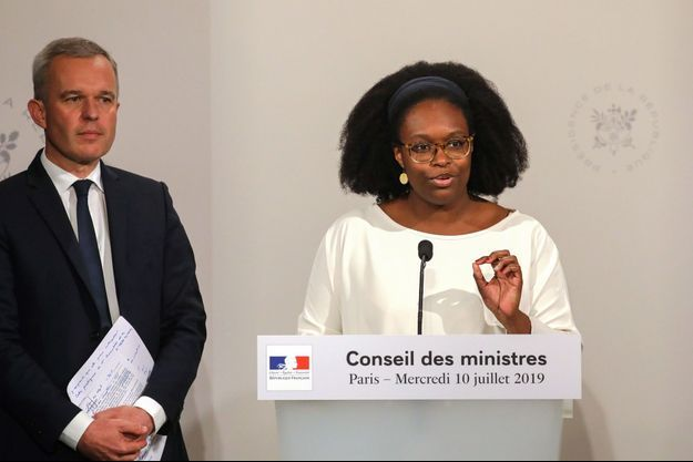 Franços de Rugy et Sibeth Ndiaye, mercredi à l'Elysée.