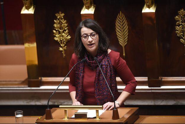 Cécile Duflot à la tribune de l'Assemblée nationale, en février dernier.