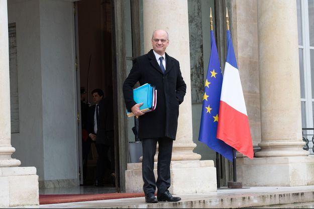 Jean-Michel Blanquer en décembre à l'Elysée.
