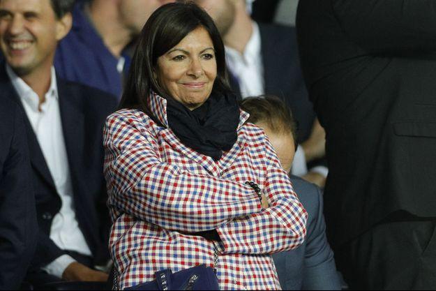 Anne Hidalgo la semaine dernière au Parc des Princes pour la rencontre entre le PSG et le Real Madrid.