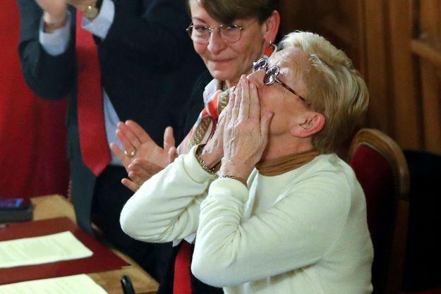 Isabelle Balkany au conseil municipal de Levallois-Perret le 13 février 2020.