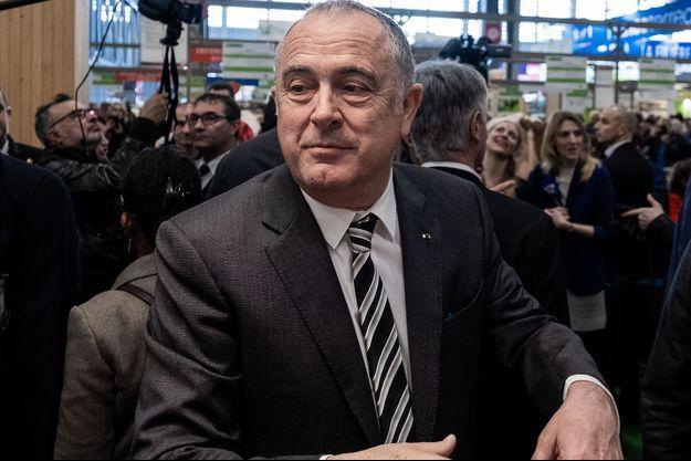 Le ministre de l'Agriculture Didier Guillaume au salon de l'Agriculture, le 24 février.
