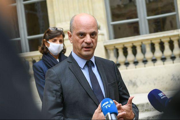 Jean-Michel Blanquer, samedi en conférence de presse.